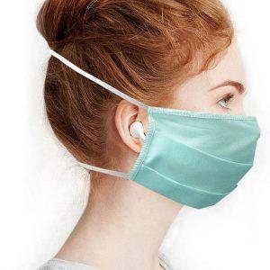 Masques en Tissus lavables et réutilisables - Lot de 4 - Bleu