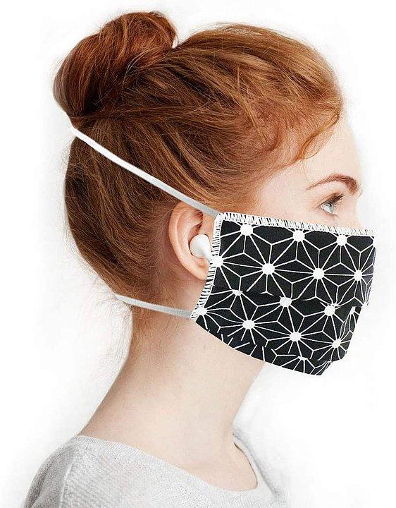 Masque en tissu géométrique noir