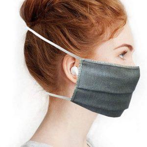 Masque en tissue lavable gris