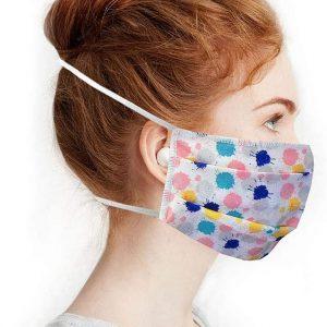 Masque en tissu lavable multicolore