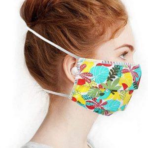 Masque en tissu lavable Tropical vert
